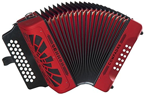 Hohner Compadre FBbEb, Red (Hohner Accordion Parts compare prices)