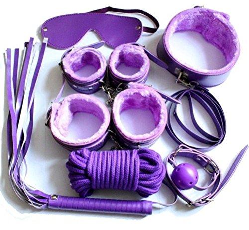 Zjchao(Tm) Restrains Bondage Different Love Sm Sex 7Pcs Set Purple front-924822