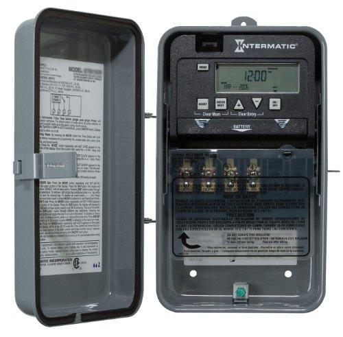 Intermatic Elect Timer, 24Hr, NEMA1, 10/30A, 1Ch, Steel