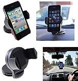 Guilty Gadgets 360' Rotate In-Car Windscreen Or Dash-mount Suction Holder Mount For Sat Nav TomTom, Garmin, Navman, Navigon, Pronav GPS & more