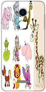 Snoogg set of animal with background Designer Protective Back Case Cover For Coolpad Note 3 (White, 16GB)