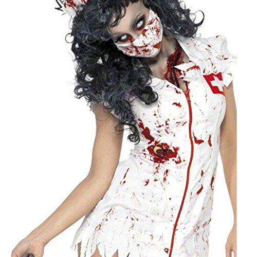 Adult Ladies Horror Zombie Halloween Costume Hen Night Party Fancy Dress Outfit