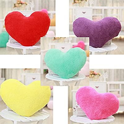 HuntGold 1X Weiche Liebesherzform Flauschige Kissen Polster Block Geschenke (rot) von HuntGold auf Gartenmöbel von Du und Dein Garten