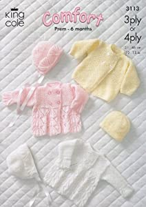 4 PLY BABY JACKET KNITTING PATTERN   KNITTING PATTERN
