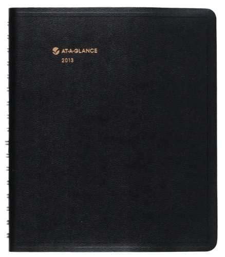 AT-A-GLANCE Triple View Daily/Monthly Appointment Book, 6 x 9 Inches, Black, 2013 (70-206V-05)