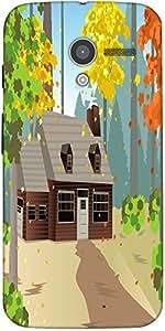 Snoogg Autumn Home Designer Protective Back Case Cover For Motorola X / Moto X