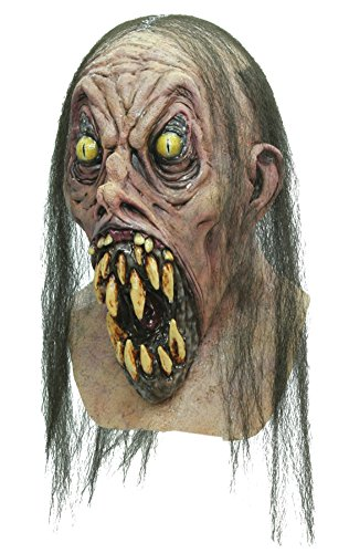 Possessed Demonish Teeth Scary Zombie Latex Adult Halloween Costume Mask