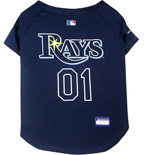 Pets First MLB Tampa Bay Rays Dog Jersey, Medium