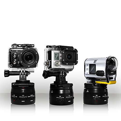 Motorized Panning Head Gopro Action Cam Timelapse Variable Speeds and...