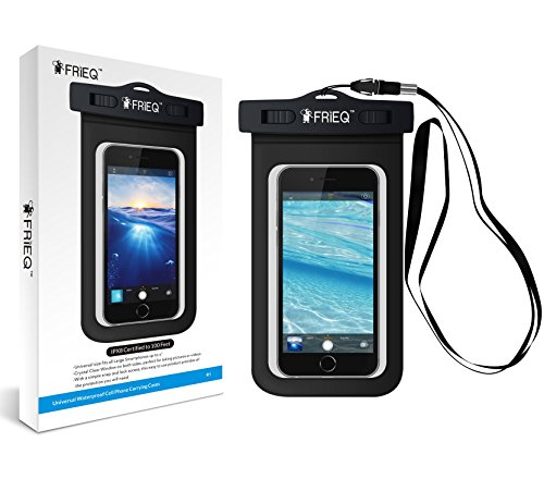 FRiEQ-Universal-Waterproof-Case-Bag-for-Outdoor-Activities-Perfect-for-Boating-Kayaking-Rafting-Swimming-Waterproof-bag-for-Apple-iPhone-6S-6-5S-5C-5-Galaxy-S6-S4-S3-HTC-One-X-Galaxy-Note-3-Note-2-LG-