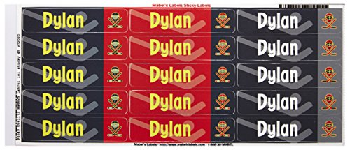 Mabel'S Labels 40845026 Peel And Stick Personalized Labels With The Name Dylan And Hockey Icon, 45-Count