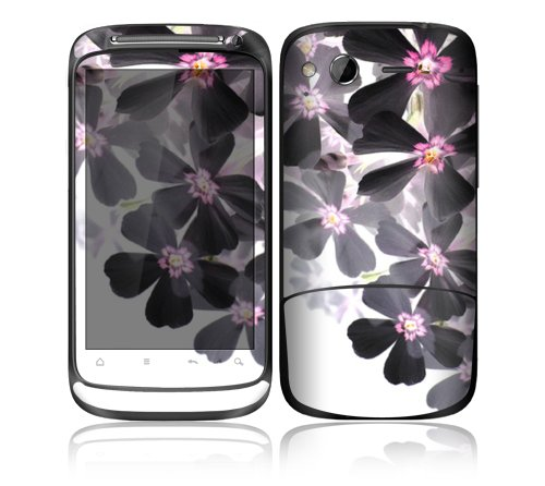 Asian Flower Paint Design Decorative Skin Cover Decal Sticker for HTC Desire S Cell Phone