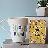 Super Papa Mug-Mug 1,Fathers Day Tag 1, mugs for fathers day, ceramic mugs for fathers day, gifts for fathers day, fathers day gifts from daughter, fathers day gifts from son, fathers day gifts from kids, fathers day gifts, birthday gifts for father, birthday gifts for dad, coffee mugs for father, Conical Coffee Mug-GIFTS111707