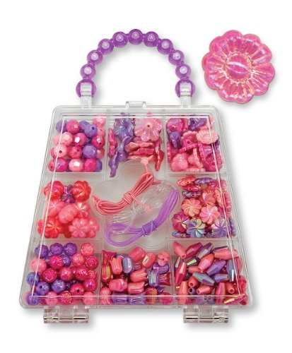 Colorful Plastic Bead-And-Laces Set - Melissa & Doug Polished Petals Bead Set