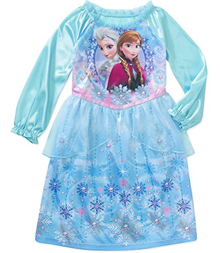 Disney Frozen Girls' Anna And Elsa Nightgown, Toddler/Infant 12M-5T