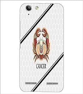 PrintDhaba Zodiac Cancer D-5801 Back Case Cover for LENOVO VIBE K5 (Multi-Coloured)