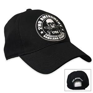 Hot Leathers 2nd Amendment Ball Cap (Black)