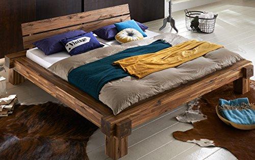 XXS-Elke-Balkenbett-180-x-200-cm-in-warmem-braun-Bett-in-natrlichem-Design-Unikat-durch-Windrisse-Balkeneichenoptik-aus-Akazien-Holz-fr-Ihr-Schlafzimmer