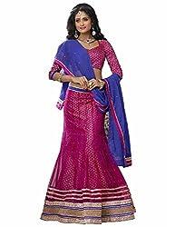 DesiButik's Wedding Wear Gorgeous Pink Net Lehenga