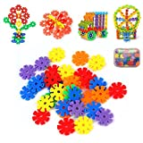 #9: Multi-Color Thick Snowflakes Model Building Block Creative Educational Toy for Kids (150 PCS)