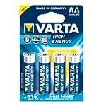 VARTA Batterie HighEnergy Mignon AA 4St