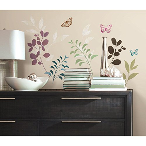 RoomMates RMK2688SCS Botanical Butterfly Peel and Stick Wall Decals