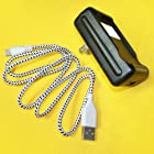 New External Dock Home Extra USB AC Charger + Micro USB 2.0 Braided Sync Data Cable Charging 3 Feet for Alltel/C Spire LG Optimus Select AS730 Phone