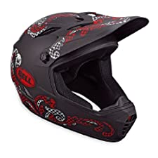 Bell Drop BMX/Downhill Helmet, Matte Black/Red Brandana, Large