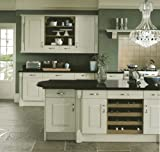 TradeKitchens Woodgrained Fitted Kitchen Doors Ivory panelled design, Description:Clear Glazed Door, Width:196 , Height:715