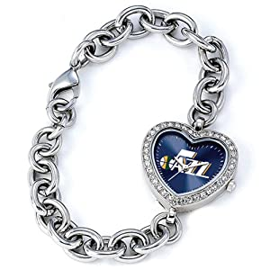 Ladies NBA Utah Jazz Heart Watch by Jewelry Adviser Nba Watches