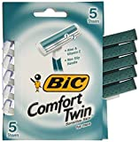 BIC Comfort Twin Blade Sensitive Shaver, Men, 5-Count
