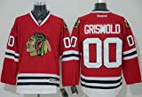 Chicago Blackhawks #00 Clark Griswold XXL Red CCM Vintage Stitched Throwback Jersey