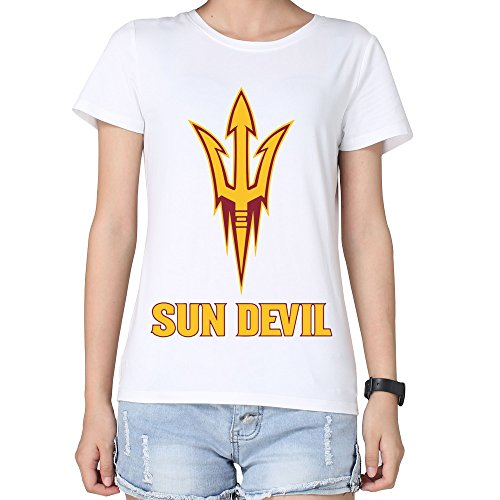 Sasha Women's Arizona State Sun Devil T-shirt M White (Metallica Devil Shirt compare prices)