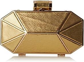 Halston Heritage Octagonalminaudiere Clutch, Gold, One Size