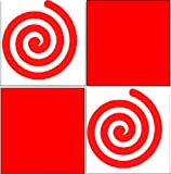 20 X Swirls Tile Transfer Decal Stickers Kitchen Or Bathroom Red