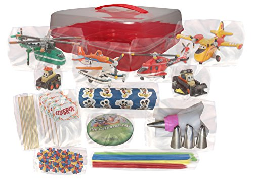Disney s Planes: Fire & Rescue Deluxe Cake / Cupcake Topper Decorating Kit Food, Beverages ...