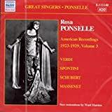 img - for AMERICAN VOL.3 Recordings [1923-29] by ROSA PONSELLE [Korean Imported] (2007) book / textbook / text book