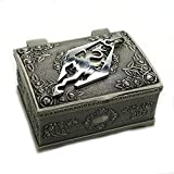 Wo-dreams Titanium Steel The Elder Scrolls Skyrim Dragon Pendant Necklace with Jewelry Box,The Elder Scrolls Necklace,Great Gift for The Elder Scrolls Fans Clistmas Gifts
