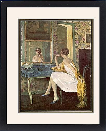 Framed Print Of Woman/Make-Up 1926 front-1075540