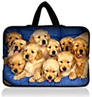 Yellow Dogs 10 Laptop Sleeve Bag Notebook Case+ Hide Handle For Google Android Nexus 10 Tablet PC,Thrive AT100,10.1 ASUS Eee Pad TF10 Tablet PC,Asus Eee Pad Transformer Prime TF201 TF300,Samsung Galaxy Tab 3 10.1 P5210 Tablet PC,HP Mini 110 210,Dell inspiron mini 10,10.2 Flytouch 3 SUPERPAD 2 Tablet,Microsoft Surface RT Windows Pro,iPad Air iPad 2 3 4 5 5th Gen W/Cover