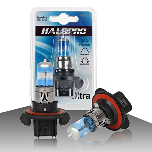 HaloPro H13 12V 60/55W Ultra white Halogen Bulb Xenon White Halogen Dual beam headlamp,High&low beam bulb,Nissan,GMC,Chevy Ford,Pack of 2pcs (07 Bmw 335i Spark Plug Socket compare prices)