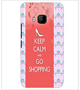 PrintDhaba Quote D-2904 Back Case Cover for HTC ONE M9 (Multi-Coloured)
