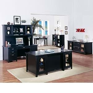 Martin furniture distressed finish complete executive office set home office - Executive home office furniture sets ...