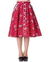 Hell Bunny Rock BANDANA 50'S Skirt red