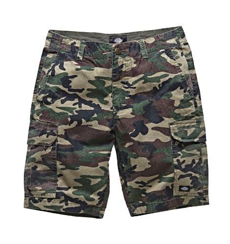 Dickies - New York Short, Pantaloncini sportivi Uomo, Multicolore (Camouflage), W32 (Taglia Produttore: 32)