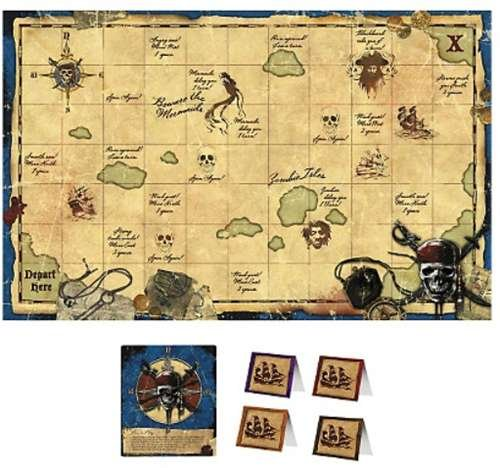 Pirates of the Caribbean 'On Stranger Tides' Party Game Poster (1ct)