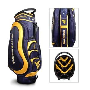 West Virginia Mountaineers NCAA Cart Bag - 14 way Medalist - TGO-25635 by Team Golf