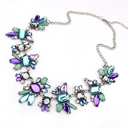 Tonsee-Women-Fresh-Wild-Fashion-Delicate-Clavicle-Necklace-Purple