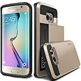 Galaxy S6 Edge Case, Verus [Damda Slide][Shine Gold] - [Card Slot][Drop Protection][Heavy Duty][Wallet] - For Samsung Galaxy S6 Edge SM-G925 Devices