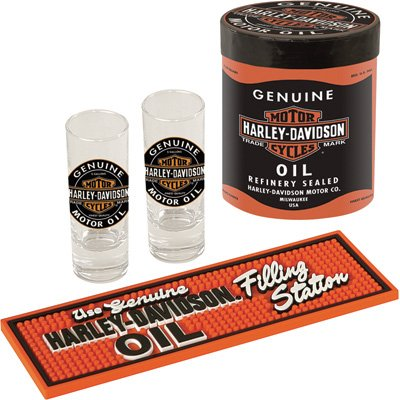 Harley-Davidson Oil Can Shot Glass Gift Set